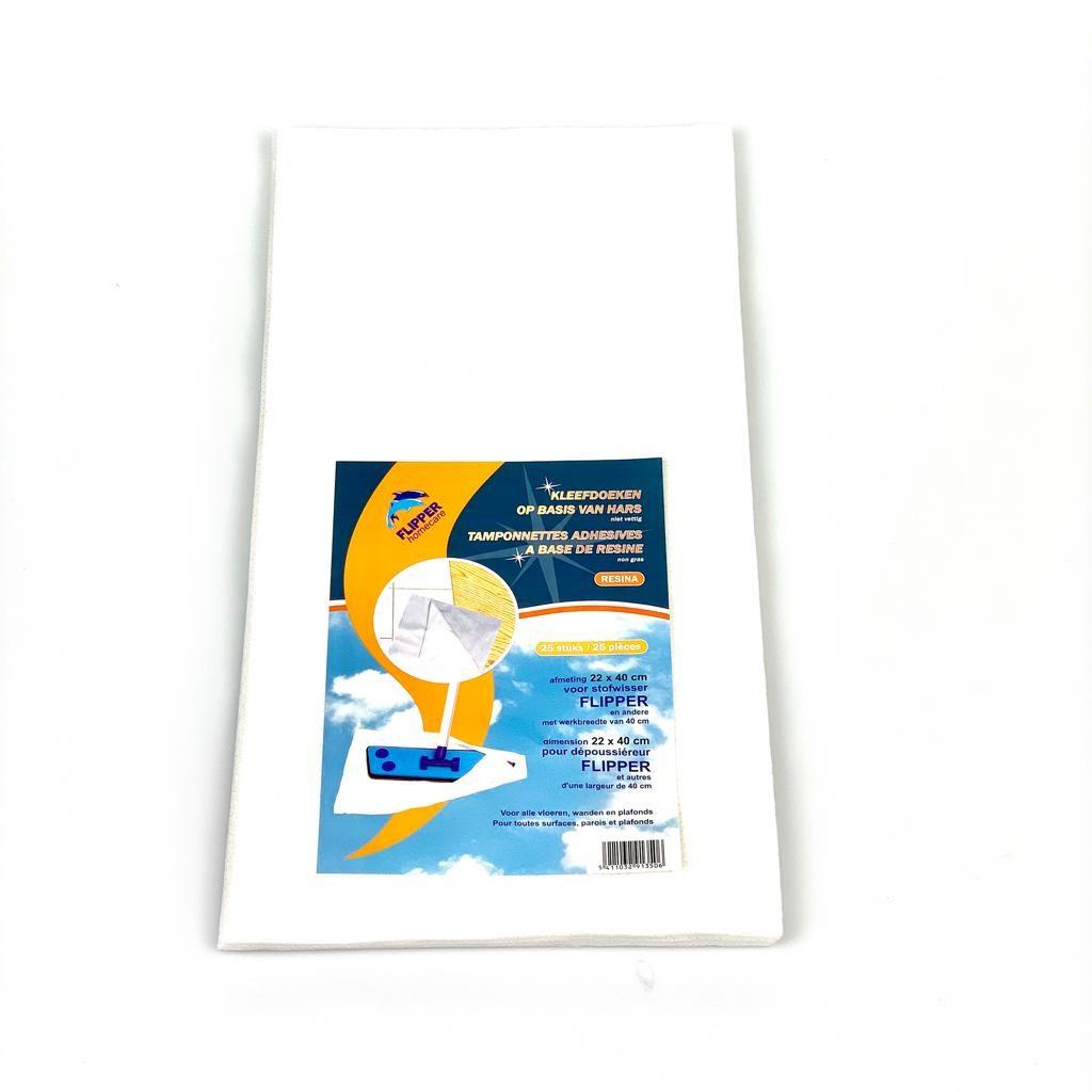 flipperdoeken wit Resina 25 stuks A9135.flipper homecare