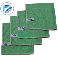 Flipper Microvezeldoeken Nivo 4 stuks Groen 40 x 40 cm.