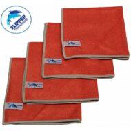 Flipper Microvezeldoeken Nivo 4 stuks Rood 40 x 40 cm.