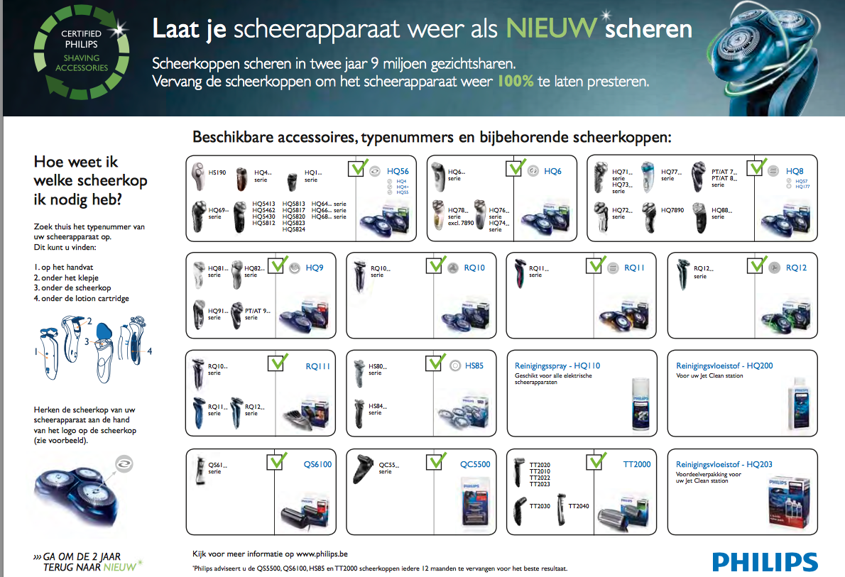 Philips TT 2000/43 Scheerblad Zwart 1 stuks €13,00