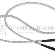 SNOER + STOOMKABEL UNIV. VOOR STOOMSTRIJKIJZER 1,90 MT WHITE AND GREY HOSE. STEAM HOSE 5X8MM + ELECT